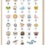 ABC Plakat Alfabet Børnebilleder
