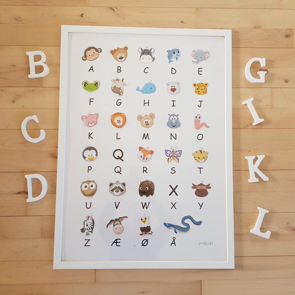 ABC Plakat Lær Bogstaver