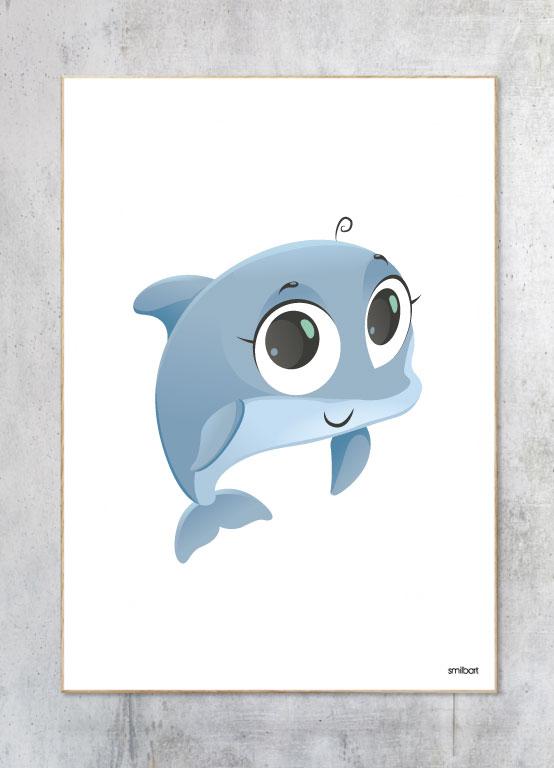 Børneplakat-Delfin Plakat