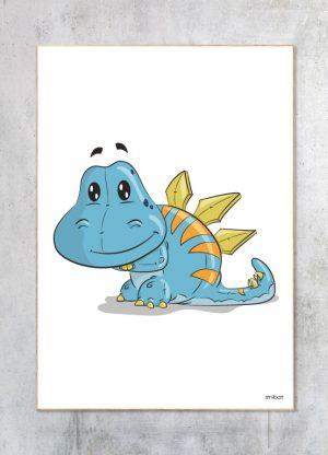 Børneplakat-Dinosaur Børn