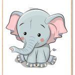 Elefant Plakat Børn
