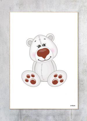 Børneplakat-Isbjørn