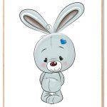Kanin Plakat Børn Blå
