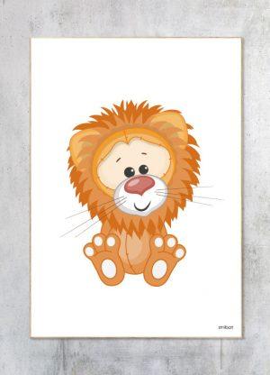 Børneplakat-Løve Plakat
