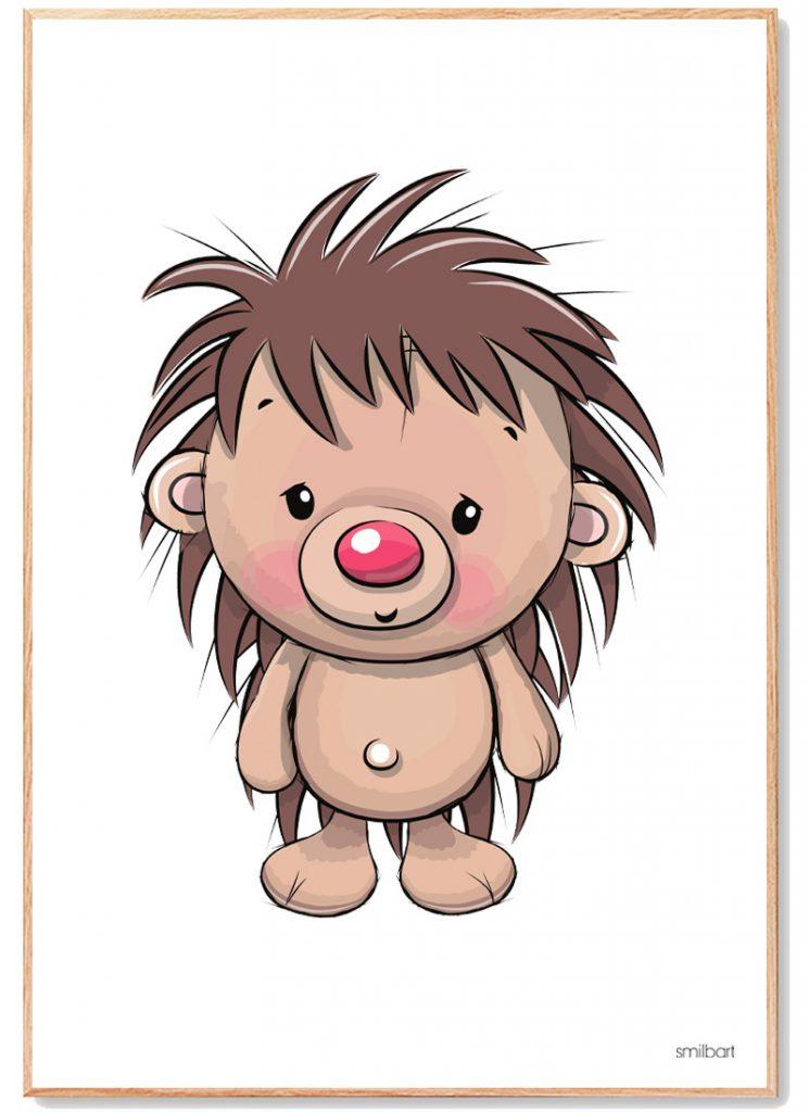 Pindsvin Plakat Børn
