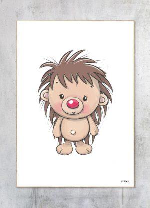 Børneplakat-Pindsvin