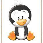 Pingvin Plakat Børn