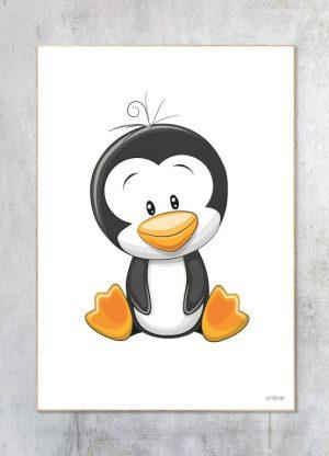 Børneplakat-Pingvin