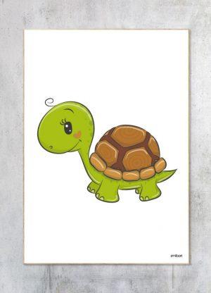 Børneplakat-Skildpadde Plakat