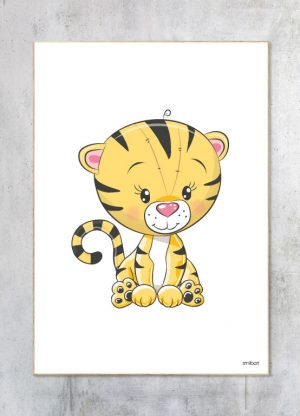 Børneplakat-Tiger Plakat