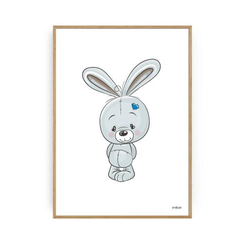 Sød kanin plakat drengeværelset