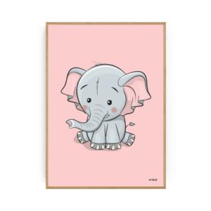 Elefant Plakat Børneplakater Pigeværelse