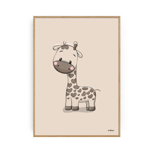 Giraf Plakat Børneplakater Drengeværelse