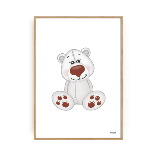 Isbjørn Plakat Børneplakater