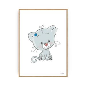 Børneværelse kat plakat børneplakater