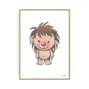 Pindsvin Plakat Børneplakater