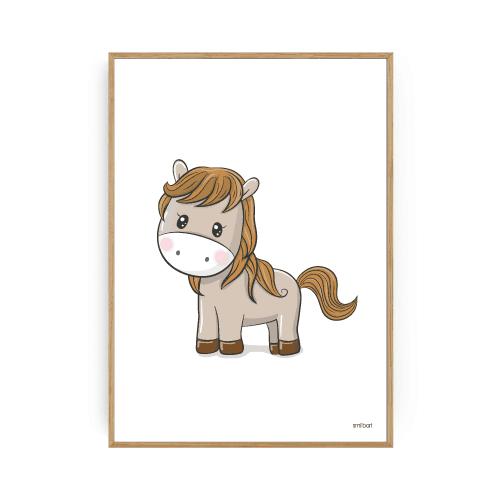 Børneplakater pony plakat pigeværelse