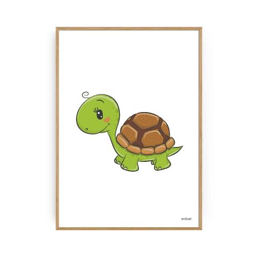Børneplakater skildpadde plakat drengeværelse