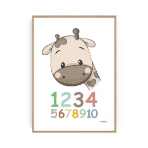 Børneplakater tal plakat