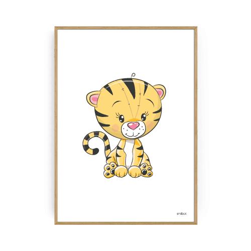 Børneplakater tiger plakat