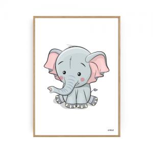 Børneplakater Elefant