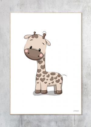 Børneplakater Giraf Baby