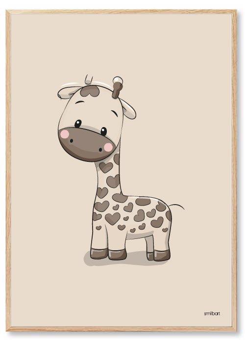 Børneplakater Giraf Drengeværelse