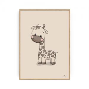 Børneplakater Giraf Plakat