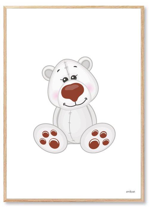 Børneplakater Isbjørn