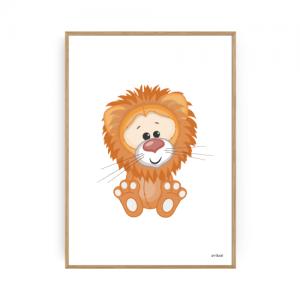 Børneplakater Løve Plakat