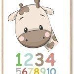Tal Plakat: Lær dit barn at Tælle Plakat   Køb Vores Flotte 123 Plakat