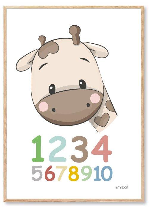 Tal Plakat: Lær dit barn at Tælle Plakat | Køb Vores Flotte 123 Plakat