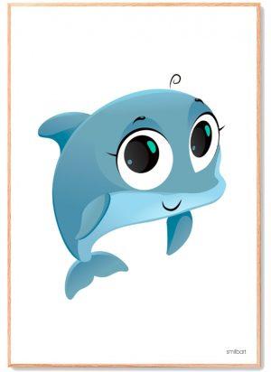 Delfin Plakat-Børn