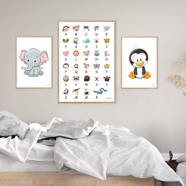 Elefant børneplakat