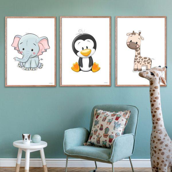 Elefant-Pingvin-Giraf