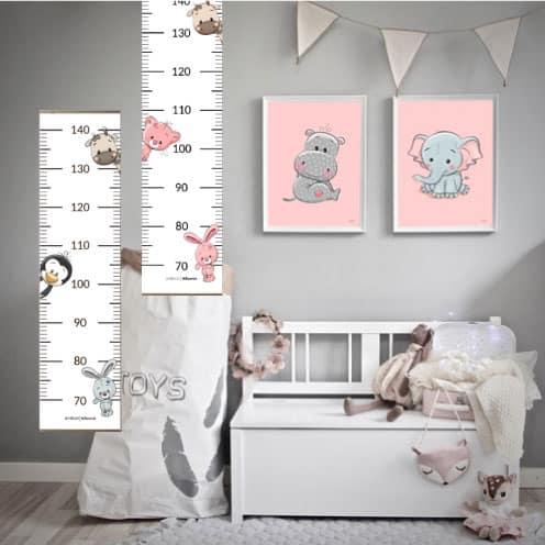 højdemåler børn børneværelse plakat plakater