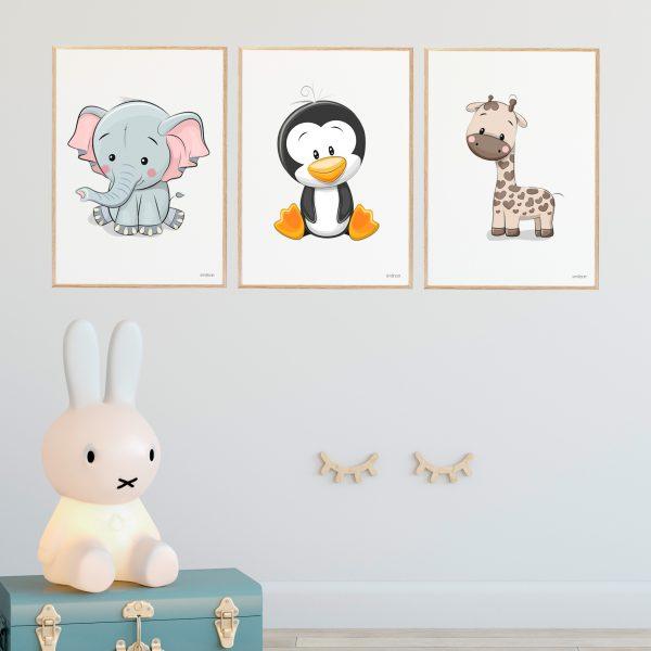 Pingvin Børneplakat
