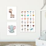 ABC plakat Børneværelse Dyreplakater