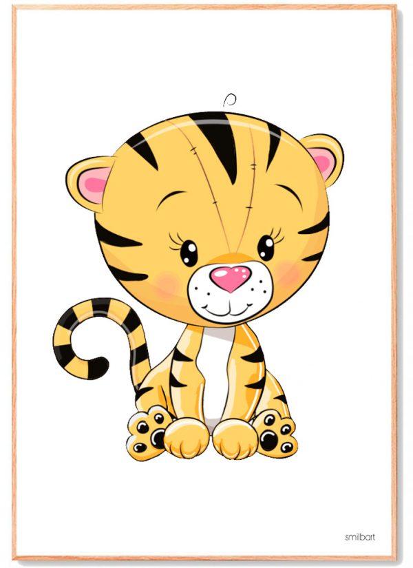 Tiger-Plakat-Børneværelse