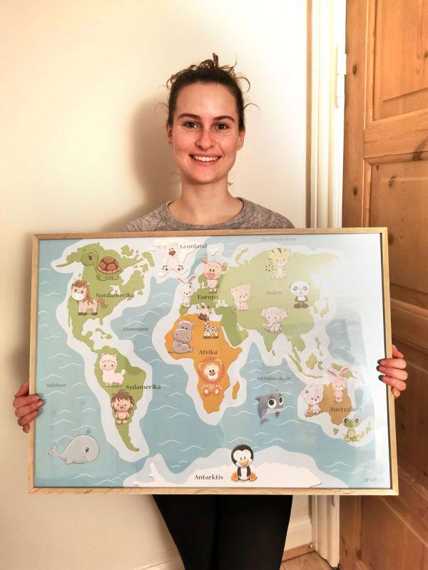 Verdenskort Plakat Læringsplakater