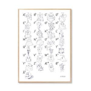 alfabet plakat