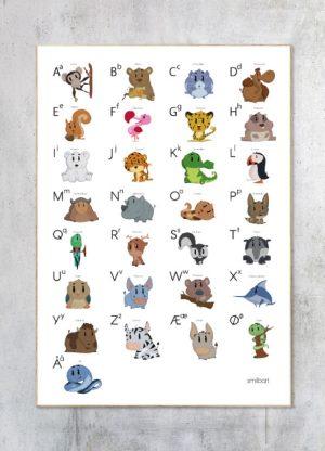 Børneplakat-Alfabet