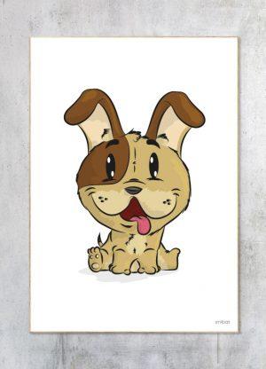 Børneplakat-Hund