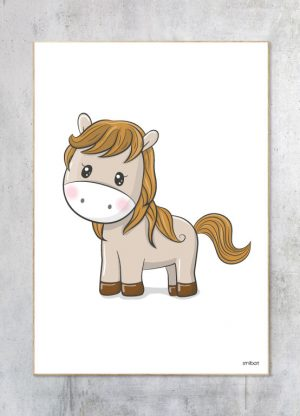 Børneplakat-Pony Hest