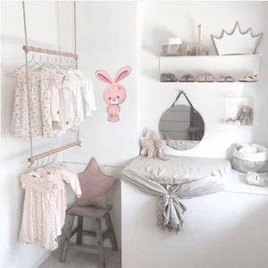 Wallstickers børneværelse kanin