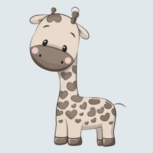 Wallstickers giraf børneværelse børn