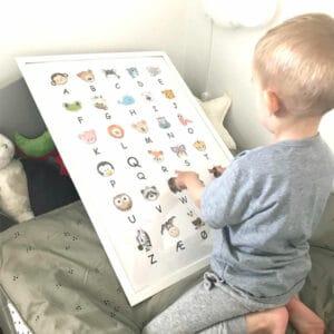 ABC plakat læringsplakat læringsplakater