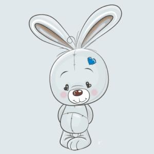 Wallstickers Kanin drengeværelse børneværelse