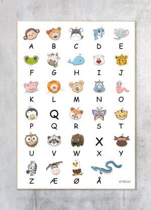 Børneplakat-ABC Læring Alfabetet