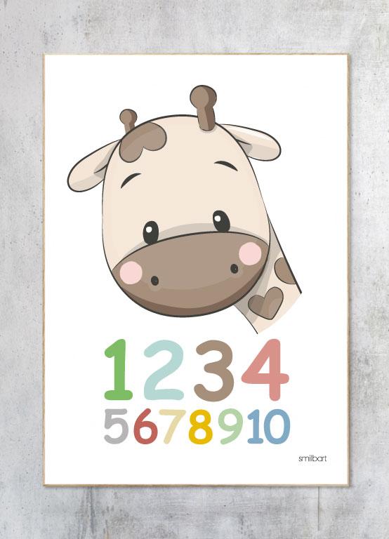 Børneplakat-Tal-Plakat